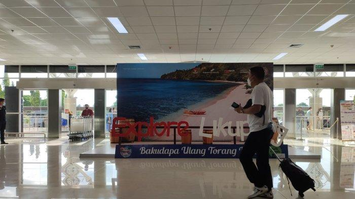 Suasana terminal kedatangan Bandara Internasional Sam Ratulangi, Kota Manado Sulawesi Utata, Sabtu (9/10/2021).