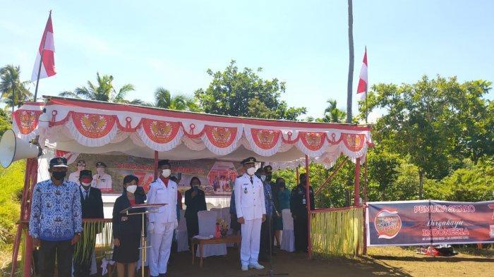 Upacara HUT RI di Pulau Makalehi Kabupaten Sitaro Berlangsung Khidmat