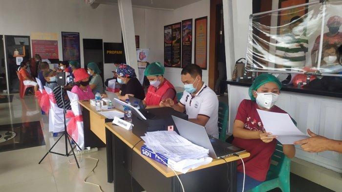 Polres Minahasa Tenggara Buka Gerai Vaksin Presisi