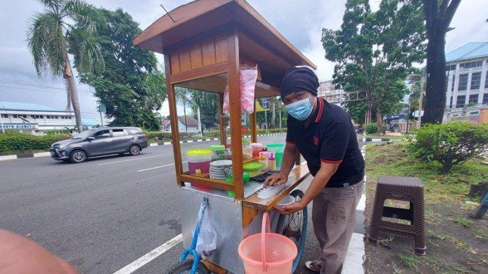 Pandemi Covid-19, Buruh di Pelabuhan Bitung Banting Setir Jualan Es Keliling