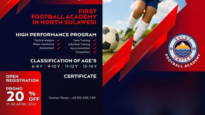 Sulut United Buka Akademi Sepakbola di Bumi Nyiur Melambai, Segera Mendaftar, Ini Syaratnya
