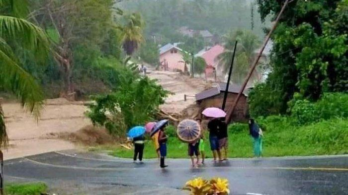 BREAKING NEWS Sungai Maelang Meluap, Dua Desa di Bolmong Terendam Banjir