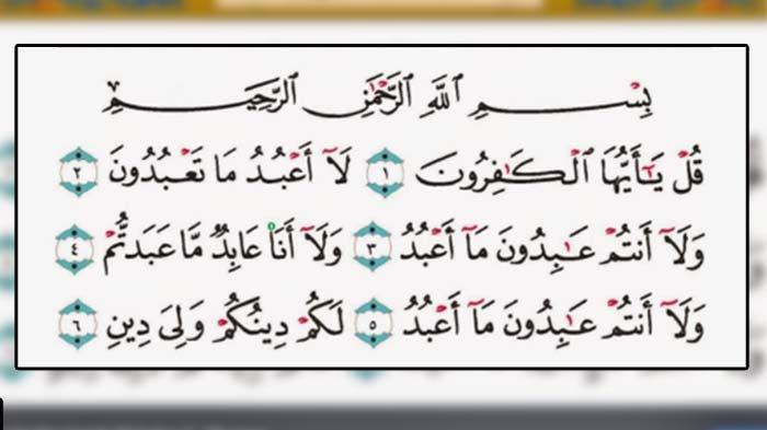Amalkan Surah Al Kafirun, Banyak Keutamaannya, Salah Satunya Ajakan Toleransi Beragama