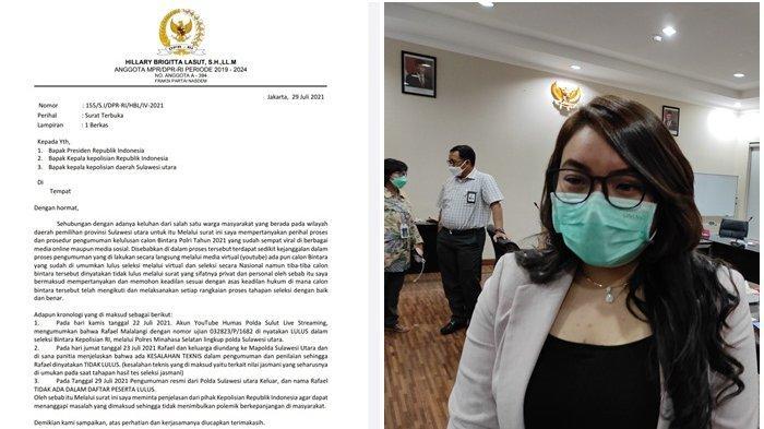 Isi Surat Hillary Lasut ke Presiden Jokowi - Kapolri, Tanyakan Nasib Calon Bintara Rafael Malalangi