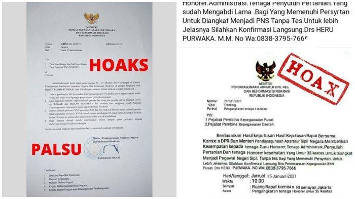Hati-Hati Tertipu! Beredar Surat Palsu MenPANRB Angkat Honorer Jadi PNS