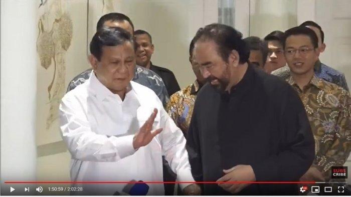 Prabowo Penuhi Undangan Surya Paloh, Akui Teman Lama yang Sering Beda Pandangan