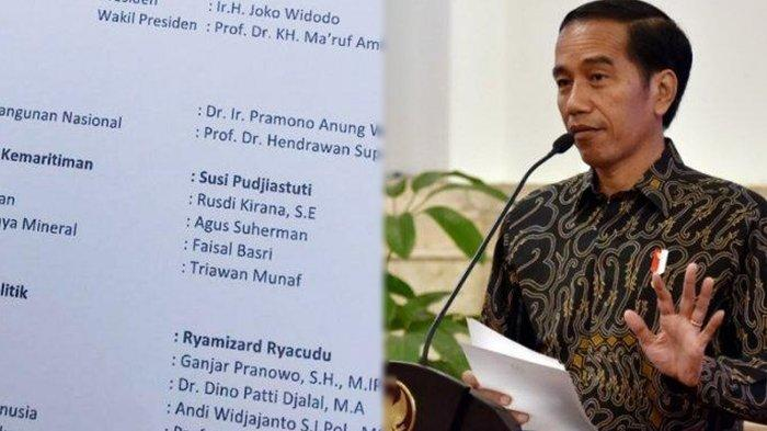 Susunan Kabinet Jokowi-Maruf Amin Beredar di Media Sosial, Ada Nama Najwa & Tsamara Serta Fadli Zon