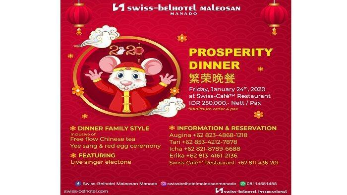 Rayakan Tahun Baru Cina dengan Dinner Prosperty dari Swiss-Belhotel Maleosan Manado