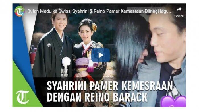 Video Bulan Madu Syahrini dan Reino Barack di Swiss, Mesra Diiringi Lagu Restu