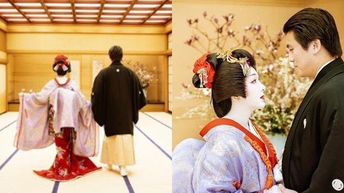 2 Tahun Menikah, Syahrini dan Reino Barack Pamer Foto Kenakan Baju Pengantin Khas Jepang, Manglingi!