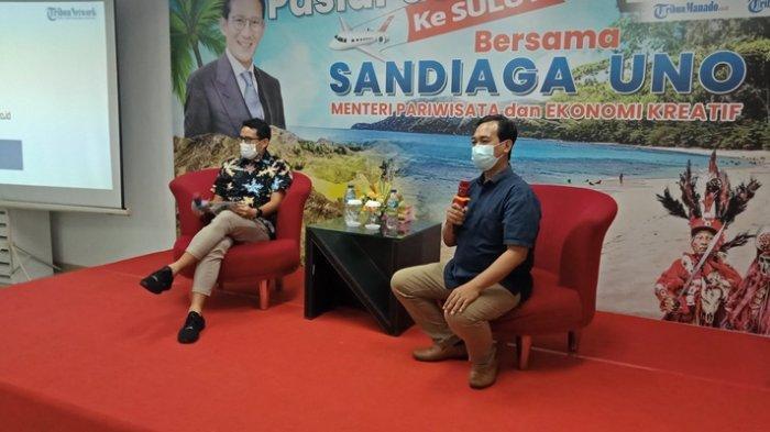 Sebelum Talk Show, Sandiaga Uno Minum Kopi Kotamobagu