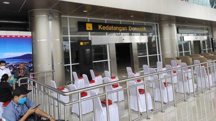 Tampilan luar terminal baru Bandara Internasional Sama Ratulangi Manado.