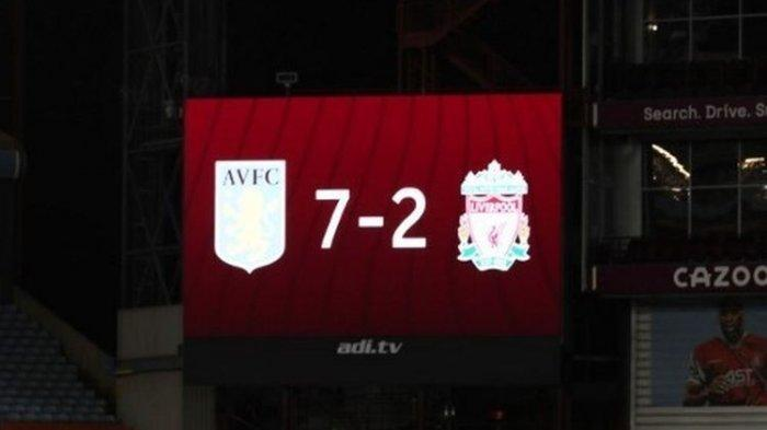 Brace dan Hattrick Pemain Aston Villa, Liverpool Telan Kekalahan Telak, Hasil Liga Inggris