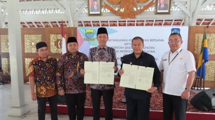 Pemkab Bolsel Tandatangani Kerja Sama Penerapan Aplikasi E-Kinerja dengan Pemkot Bandung