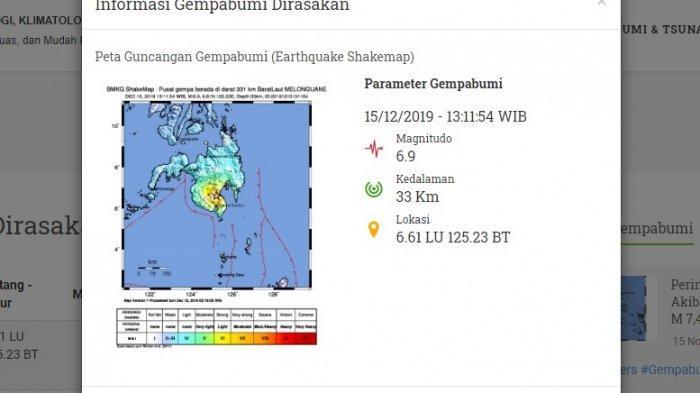 BREAKING NEWS - Gempa Bumi Mag 6.9 Guncang Kabupaten Kepulauan Talaud
