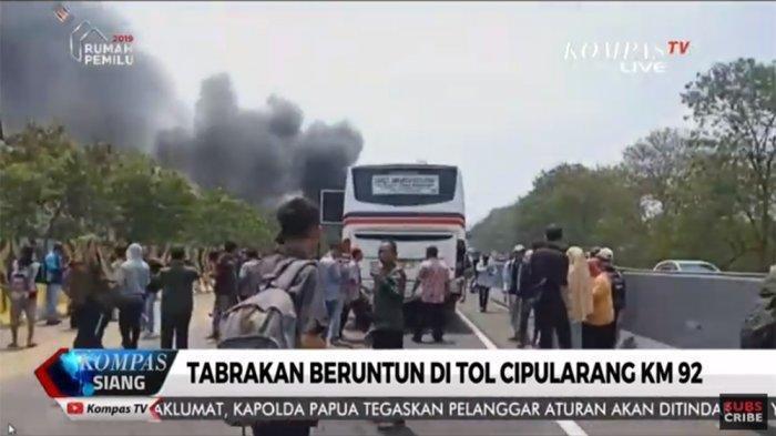 UPDATE Data KecelakaanTol Cipularang, 21 Mobil 4 Terbakar, 6 Korban Jiwa, Video Tersebar di WA
