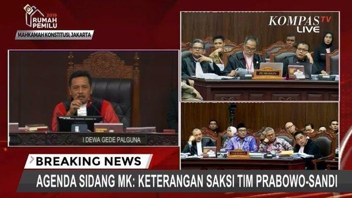 Momen Tim Kuasa Hukum Jokowi-Ma'ruf Diserang 3 Hakim MK Sidang Sengketa Pilpres, Ini Videonya