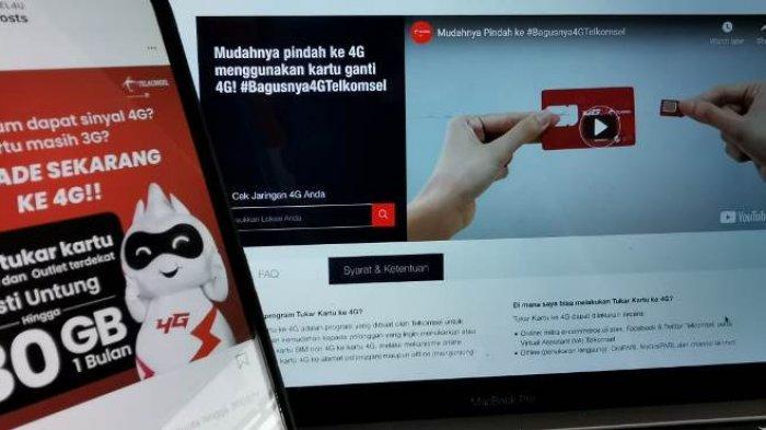 Kabar Buat Pelanggan Provider Telkomsel, Mutasi Kartu Dapat Tambahan Kuota 30GB