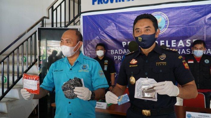 Kolaborasi Bea Cukai dan BNNP Sulut Gagalkan Pengiriman Tembakau Gorila ke Tondano