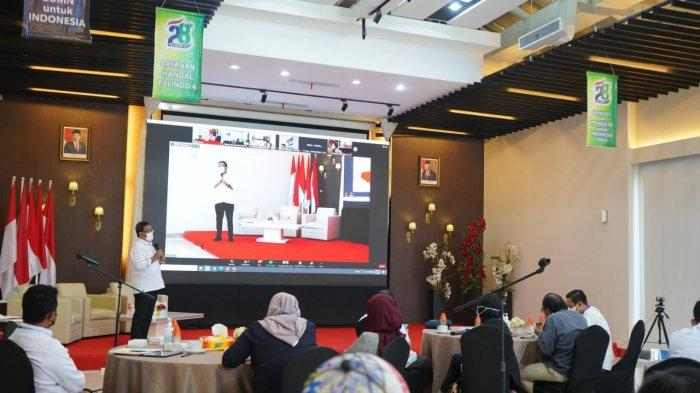 Temu Media yang digelar di Kantor Pusat PT Pelindo IV di Makassar, Selasa (14/9/2021).