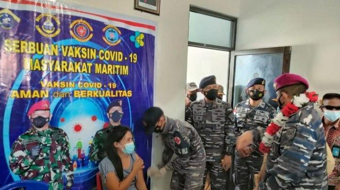 Kabupaten Talaud Bebas Covid 19, TNI AL Terus Laksanakan Serbuan Vaksinasi