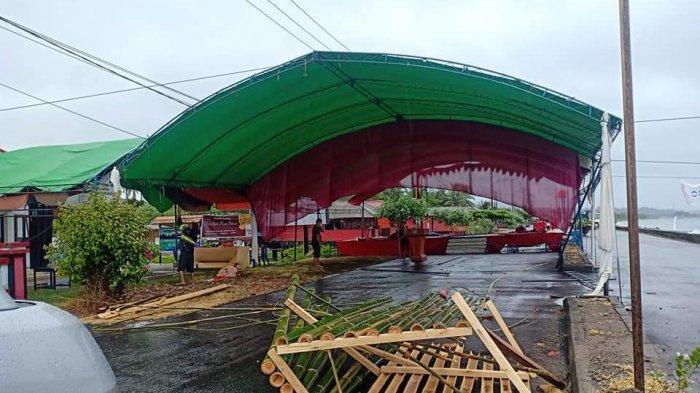 Diterjang Angin Ribut, Tenda Event Bolsel Diving Festival Porak Poranda