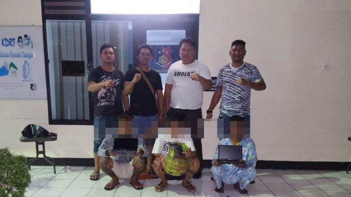 Tiga Pemuda Pencuri Laptop Ditangkap Tanpa Perlawanan