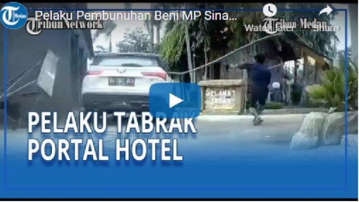 Terekam CCTV Detik-detik Pelaku Pembunuh Beni MP Sinambela Kabur, Warga Bikin ini Tapi Tak Berhasil