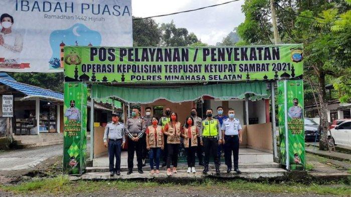 Ini 6 Titik Penyekatan Mudik di Kabupaten Minahasa Selatan, Sudah Beroperasi Sejak Pukul 7 Pagi
