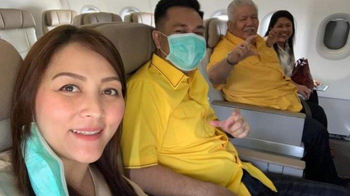 Terima Rekomendasi DPP Golkar, Michaela Paruntu dan Imba Rogi Berangkat Satu Pesawat