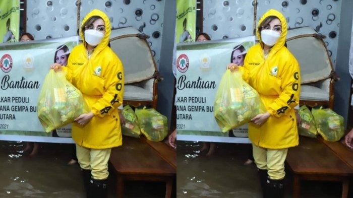 Bupati Cantik Tetty Paruntu Terobos Banjir untuk Bawa Bantuan Bagi Warga Manado