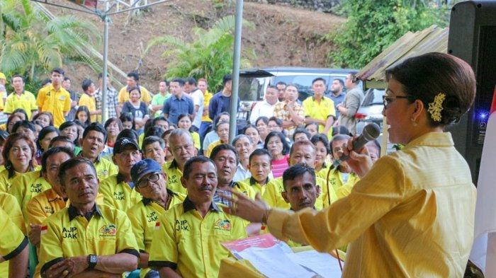 Tetty Paruntu Serukan Caleg Golkar Pasang Baliho Jokowi