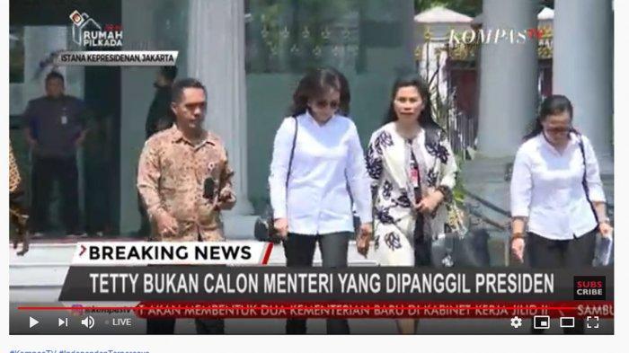 BREAKING NEWS - Tetty Paruntu Tak Diundang Jokowi, Ini Tujuannya Ke Istana