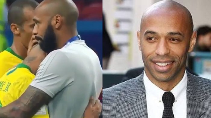 Ingat Thierry Henry? Lihat Cara Legenda Arsenal Ini Menyemangati Neymar yang Menangis