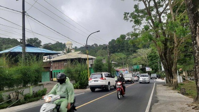 Meski Daerah Perlintasan, Arus Lalu Lintas di Tomohon Masih Tergolong Normal