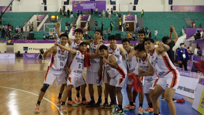 Sejarah, Tim Basket Putra Sulut Melaju ke Final Setelah Kalahkan Jateng 65-57