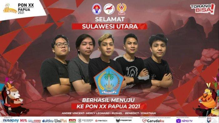 Sejarah, Lolos dari Lubang Jarum, Tim Mobile Legends Sulut Lolos ke PON XX Papua 2021