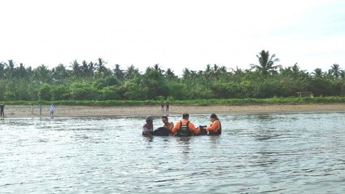 BREAKING NEWS, Korban Tenggelam di Pantai Minanga Bolmut Ditemukan, Begini Kondisinya