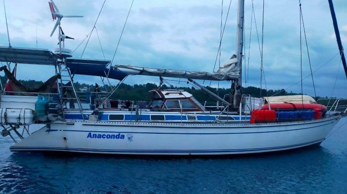 TNI Angkatan Laut di Talaud Amankan Kapal Yacht Berbendera Denmark