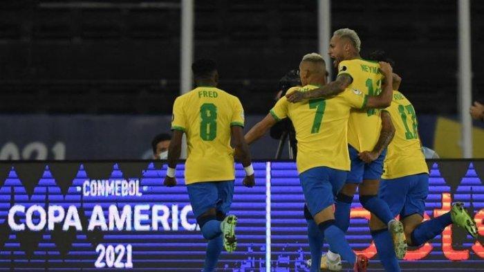 MASIH Berlangsung Live Streaming Brasil vs Peru Copa America 2021, Tim Neymar Jr Sudah Cetak 1 Gol