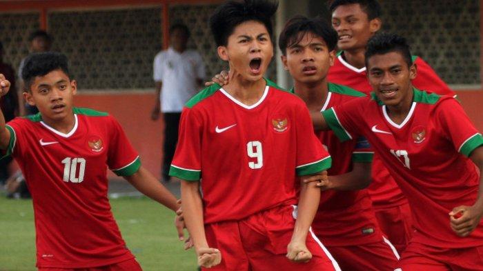 Bantai Laos 3 Gol Tanpa Balas, Timnas U-16 Indonesia Lolos Piala Asia 2018!