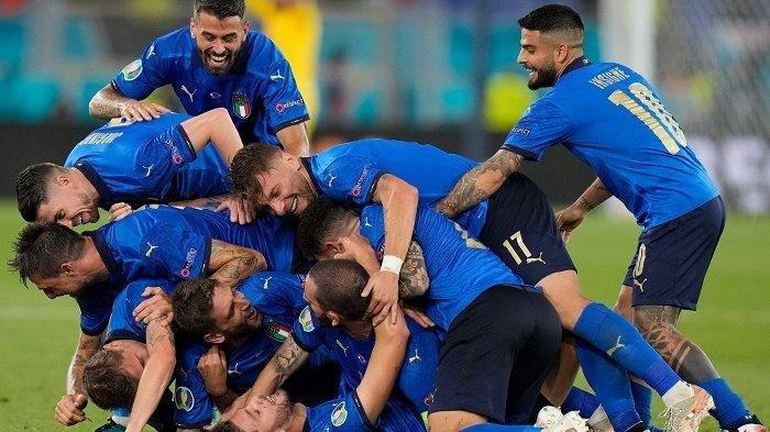 SKOR Sementara Italia vs Inggris, Gol Luke Shaw Dibalas Bonucci, Gli Azzurri Imbangi The Three Lions