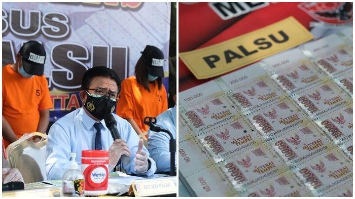 Dirjen Pajak dan Polda Metro Jaya Ungkap Praktik Materai Palsu, Rugikan Negara Rp 37 M