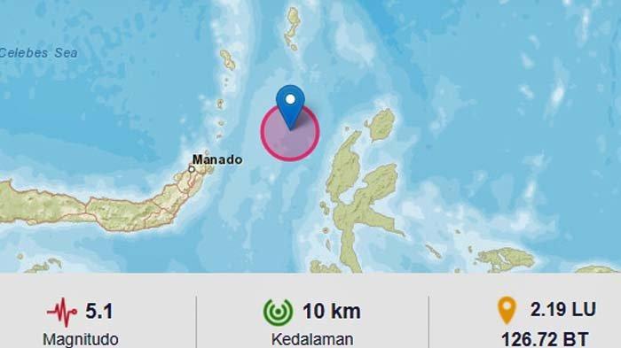 BREAKING NEWS - Gempa Bumi 5.1 SR Pukul 14.36 Wita Jumat 24 September 2021, Ini Lokasi Pusatnya