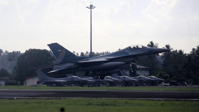 Indonesia Tambah Kekuatan: Empat Pesawat Tempur F-16 Dikirim ke Natuna