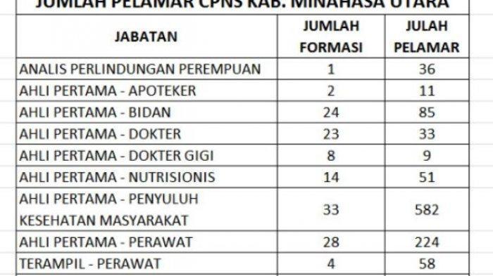 1310 Pelamar CPNS Minut Lolos Seleksi Administrasi