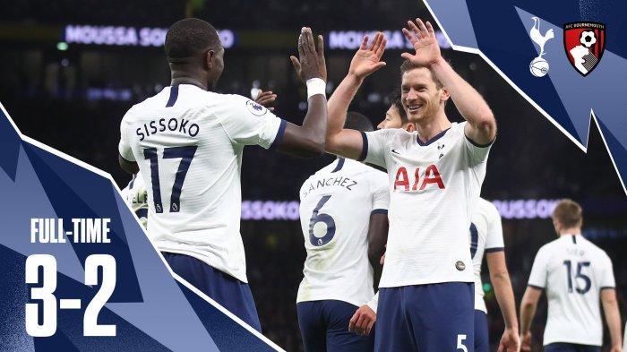 Tottenham Hotspur Menang di Laga Hujan 5 Gol