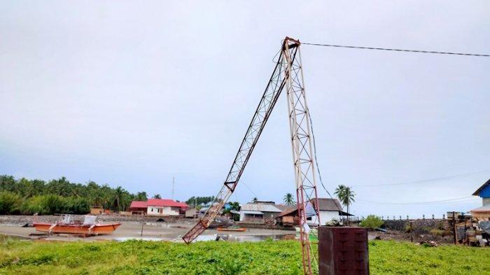 Tower WiFi Diskominfo Bolsel Roboh Diterjang Angin Ribut