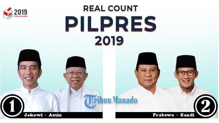 TERBARU pemilu2019.kpu.go.id Real Count Pilpres KPU 2019, 08/05 Pkl.09.15 WIB, Data Masuk 70,92%.
