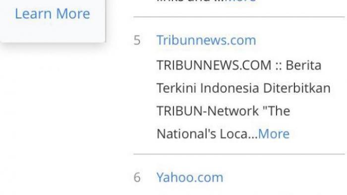 Tribunnews.com Raih Peringkat 5 Situs di Indonesia dan Berhasil Lampaui Yahoo